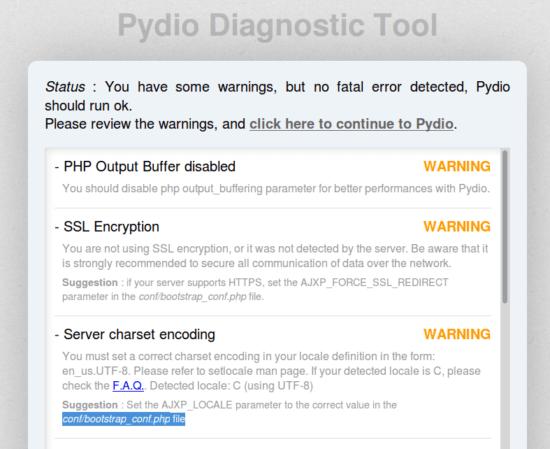 pydio-warning