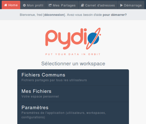 pydio-workspace