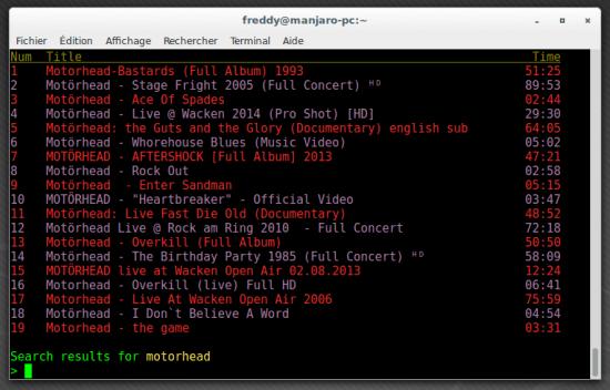 Mps-Youtube : regarder youtube dans le terminal   memo-linux com