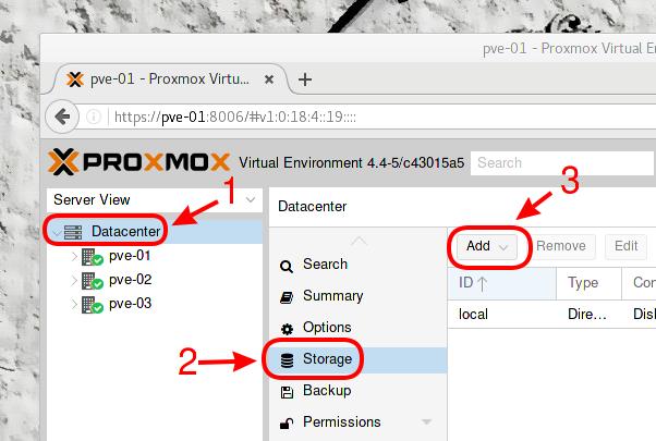 Proxmox 4 x : mise en place d'un cluster HA | memo-linux com